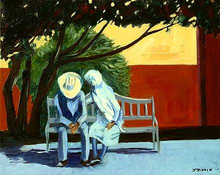 Conversation on a Park Bench by Jack Riddle