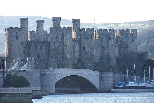 Conwy castle. High tide. by Christopher Rowlands