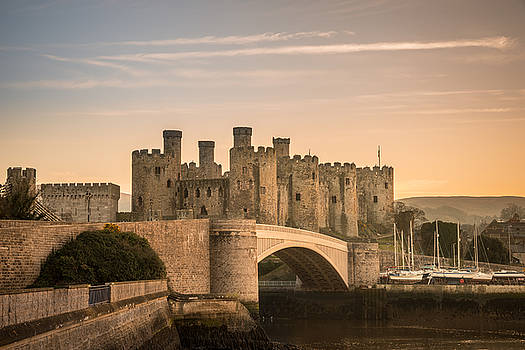 Conwy Castle Sunset by Christine Smart