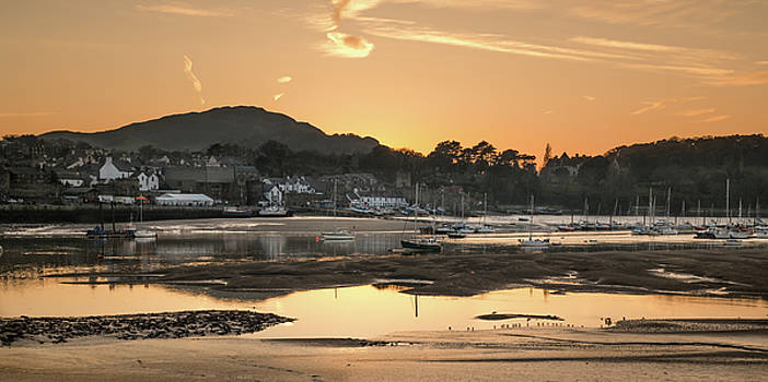 Conwy Harbour Sunset - North Wales by Christine Smart