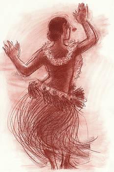Judith Kunzle - Cook Islands Drum Dancer from the Back
