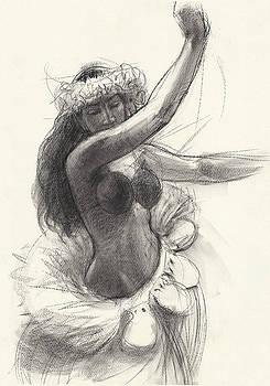 Judith Kunzle - Cook Islands Drum Dancer with Pearl Shells