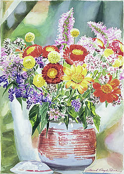 Cookie Jar Flowers by David Lloyd Glover