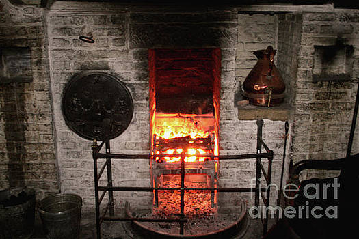 Cooking Fire Hearth Art by Doc Braham