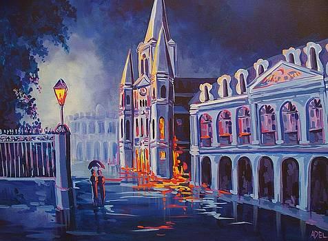 Cool Blue Jackson Square by Elaine Adel Cummins