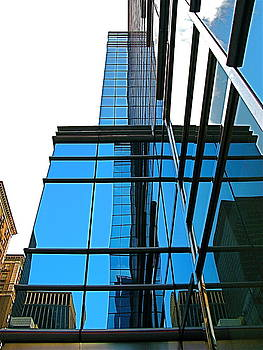 Cool Blue Tower by Myron Schiffer