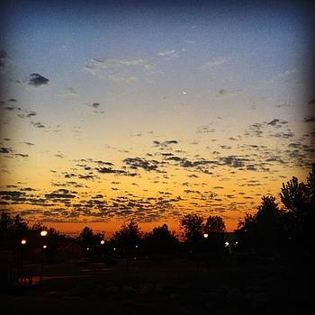 Cool Clouds And Sunrise #clouds by Drew Hutto