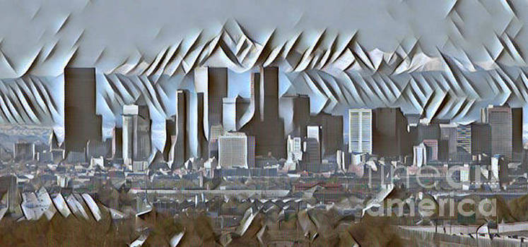 Pd - Cool Denver Skyline Abstract