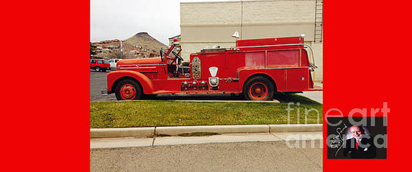 Cool Old Red Fire Truck by Richard W Linford