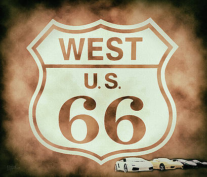 Cool Route 66 by David Millenheft