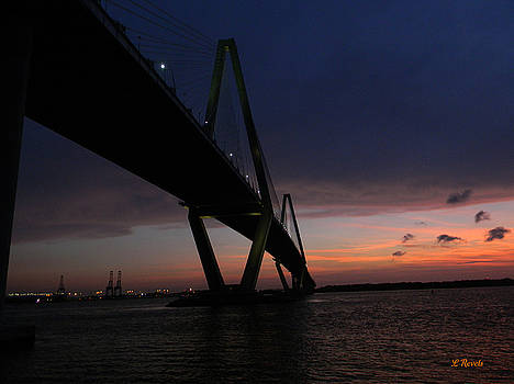 Cooper River Bridge At Sunset by Leslie Revels