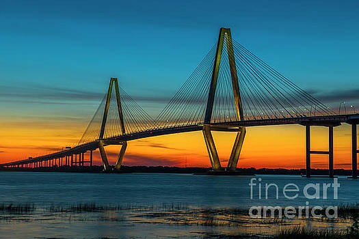 Dale Powell - Cooper River Bridge Orange Glow