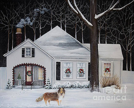 Cooper Takes a Christmas Eve Walk by Catherine Holman