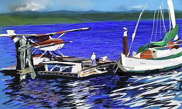 Coos Bay Dockside  by Brian Gerritsen
