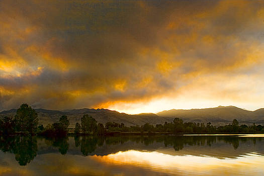 James BO  Insogna - Coot  Lake Sunset Boulder County Colorado