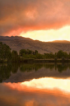 James BO  Insogna - Coot lake Wild Fire Sunset