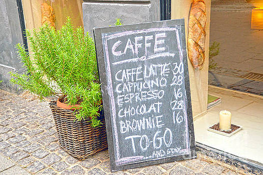 Copenhagen Coffee Shop Sign by Catherine Sherman