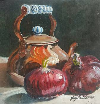 Copper and Onions by Larry Christensen