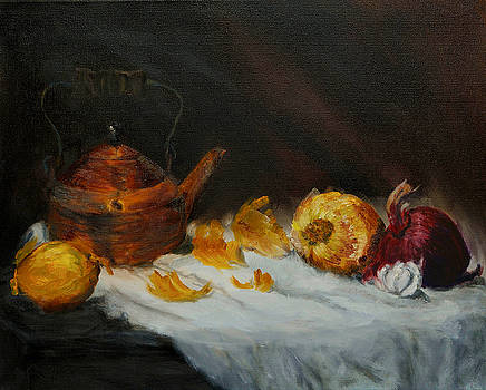 Copper Kettle and Onions by Keith Zudell