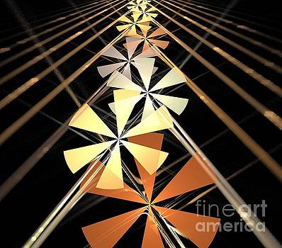 Copper Petal Rays by Kim Sy Ok