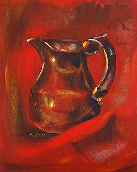 Copper Pitcher by Joseph Levine