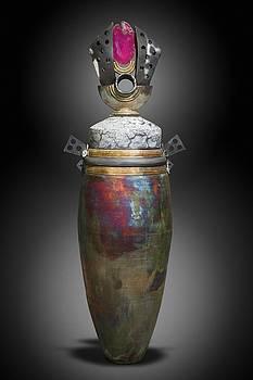Copper Temple Vessel by Joe  Woodford