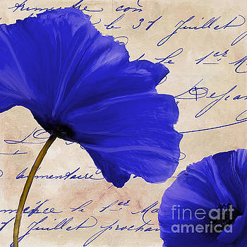 Coquelicots Bleue II by Mindy Sommers