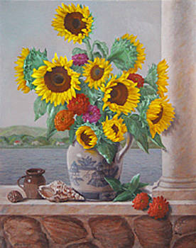 Coquillages Et Tournesols by Lillian Forziat