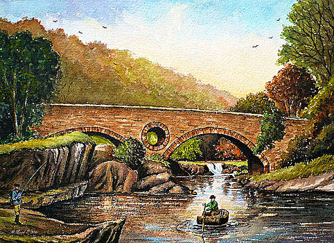 Coracle fishing Cenarth by Andrew Read