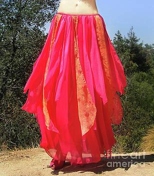 Sofia Metal Queen - Coral-pink skirt. Ameynra dance fashion
