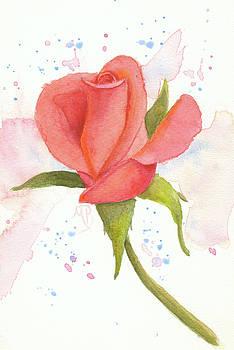 Coral Rosebud by Monica Burnette