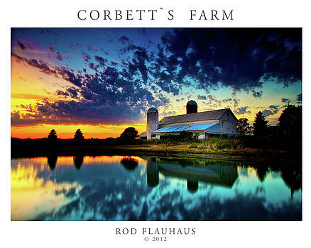 Corbett's Farm Poster by Rod Flauhaus