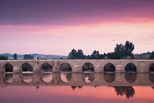Cordoba Roman Brigde sunset by Christian Almaraz