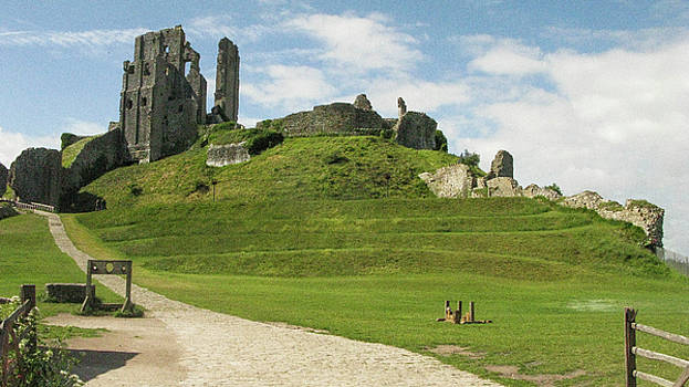 Corfe Castle - Isle of Purbeck by Maria Joy