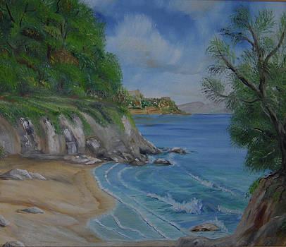 Corfian beach  by Anna Witkowska