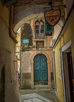 Corfu Old Town by Alida Thorpe