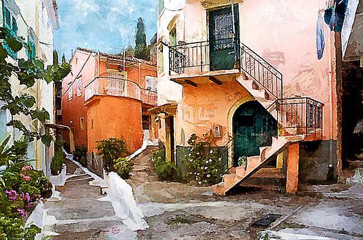 Corfu Village by Gareth Davies