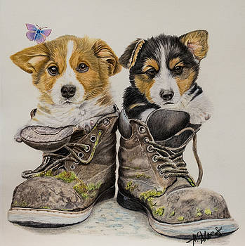 Corg 'n Boots by Michelle McAdams