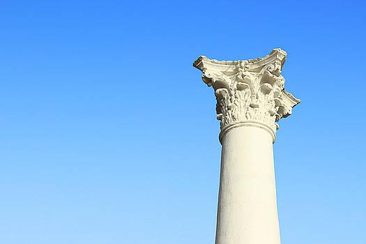 Corinthian Column - Kearney, Nebraska by Andrea Kelley