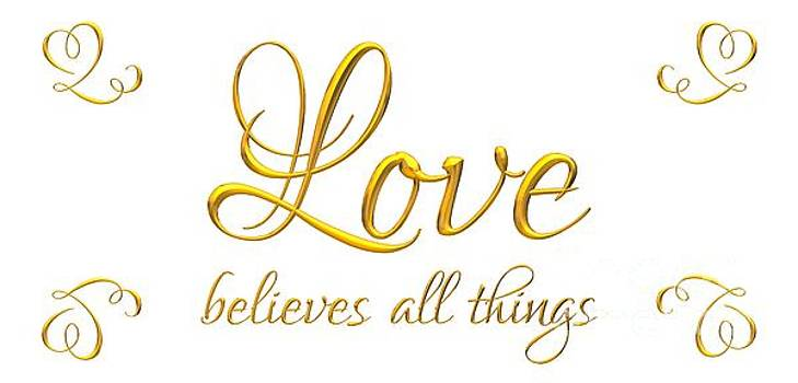Rose Santuci-Sofranko - Corinthians Love Believes All Things