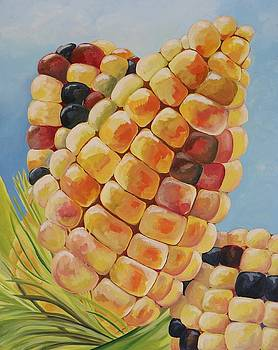 Corn-on-the-cob by Lori A Johnson