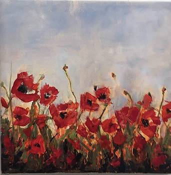 Corn Poppies by Debbie Frame Weibler