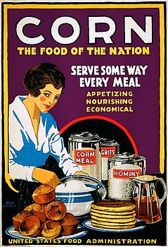 Corn, the food of the nation, US Food Administration poster, 1918 by Vintage Printery