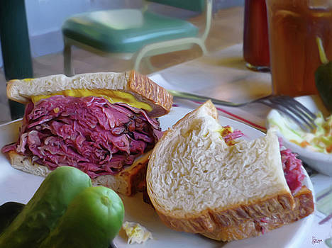Corned Beef On Rye by Jeff Breiman