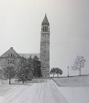 Cornell clock tower  by Tony Clark