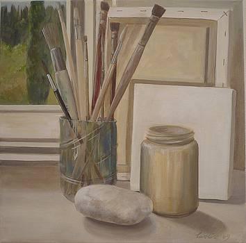 Corner of the studio. by Caroline Philp