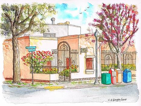 Corner with bougainvillas in San Luis Obispo, California by Carlos G Groppa