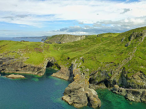 Cornwall Coast At Tintagel by Connie Handscomb