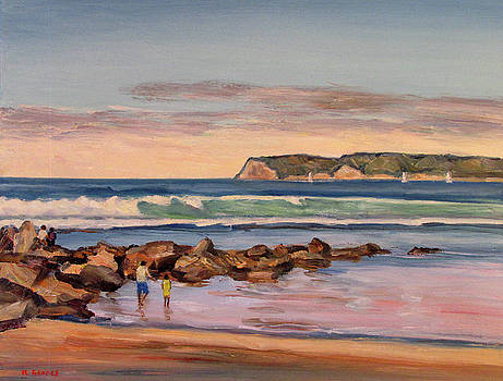 Coronado Beach with Point Loma by Robert Gerdes