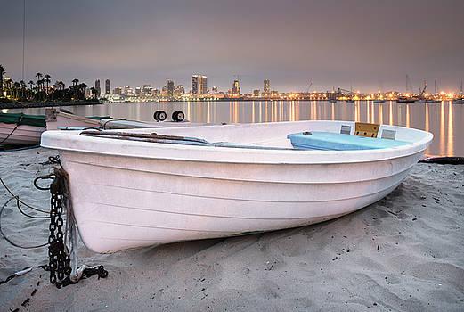 Coronado Boat and City Lights by William Dunigan